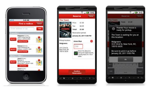 Redbox Released Android App and Updated iPhone App