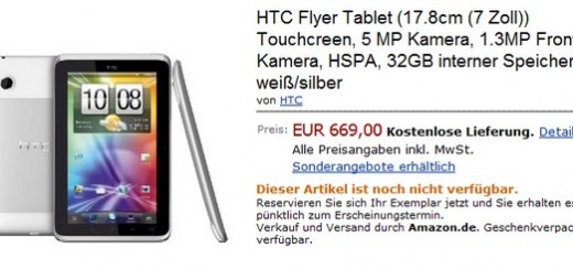 HTC Flyer Tablet Available for Pre-order at Amazon.de for €669.00