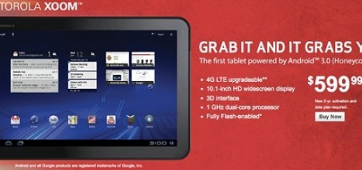 Verizon begins Motorola XOOM Tablet Sales for $599.99