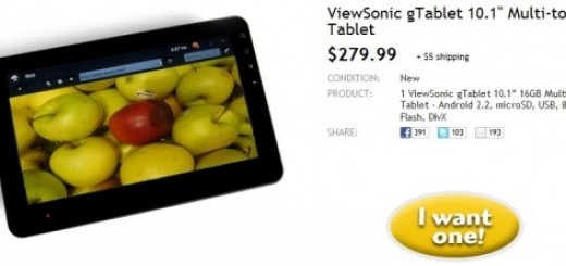 Deal Alert: ViewSonic G-Tablet running on Android 2.2 now on sale for $279.99 on woot.com