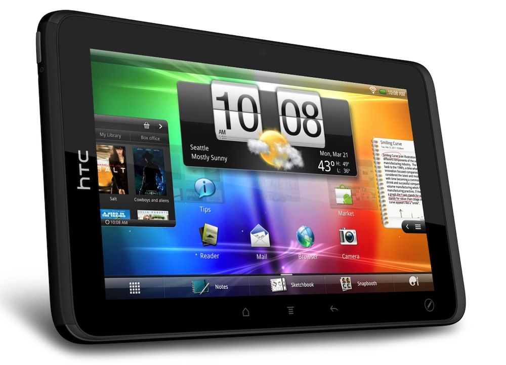 HTC EVO VIEW 4G Android Tablet for Sprint Finally unboxed; Releasing this Summer