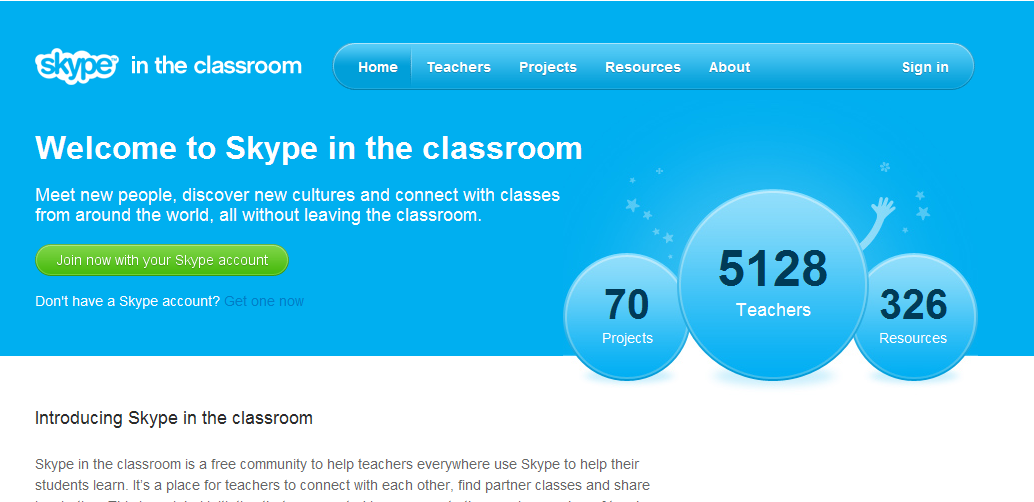 "Skype releases ""Skype in the Classroom"", a dedicated teacher Network"