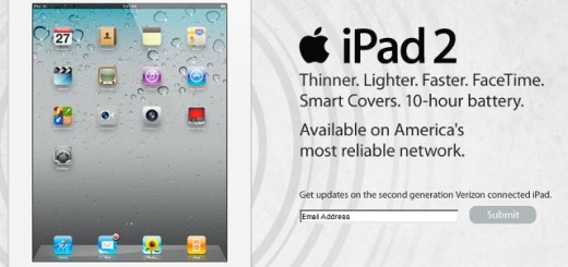 Verizon Wireless iPad 2 to be Released on March 11
