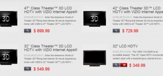New Vizio 3D TVs to ship Soon for affordable prices
