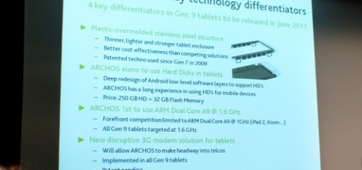 Archos to release Gen 9 Tablets with 1.6 GHz Processor for €400