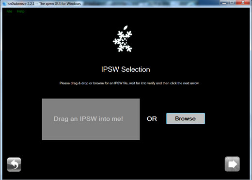 How to Jailbreak iOS 4.3.1 on Windows using Snowbreeze 2.4 Jailbreak Tool