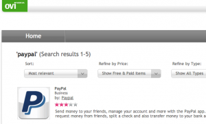 PayPal App for Nokia Mobiles released; now available on Ovi Store for Free
