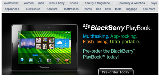 BlackBerry PlayBook is on Pre-order at Sears Canad