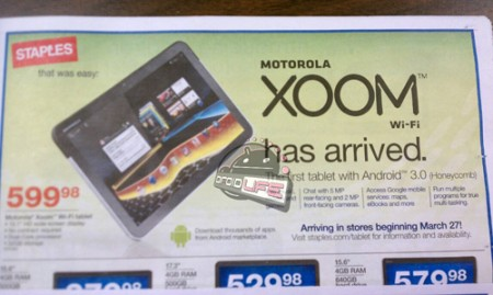 Motorola XOOM WiFi only to be released on March 27?