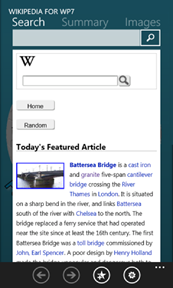 Wikipedia 7 App now Available at Windows Marketplace for Windows Phone 7 users; brings exclusive features