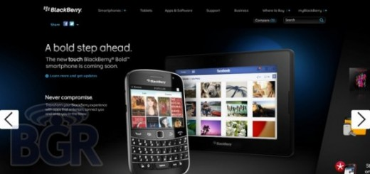 BlackBerry Bold Touch 9900 Smartphone Images shown up on RIM's Website