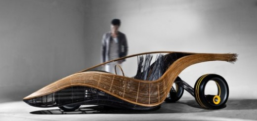 Bamboo Phoenix Roadster by Kenneth Cobonpue - A Biodegradable Car is demoed