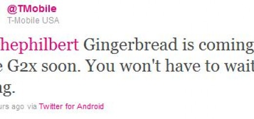 Android 2.3 Gingerbread Update for T-Mobile LG G2x Smartphone to be released Soon