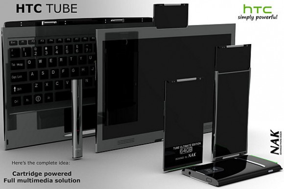 HTC Tube Concept integrates Laptop, Phone and Tablet into cartridge-powered ecosystem