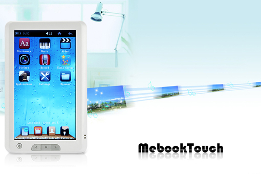 MeBook Touch Color E-Book Reader for a Price of $96.92