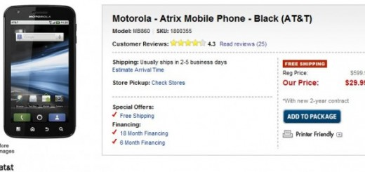 AT&T Motorola ATRIX 4G now for just $29.99 at best Buy on two-year contract