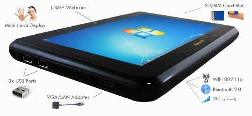 Netbook Navigator NAV 9 Slate PC Win7 Tablet Review