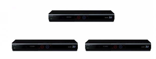 Sharp unveils AQUOS 3D Blu-ray Recorders with Built-in HDDs, WiFi support