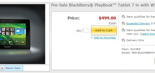 Staples begins Pre-order for BlackBerry PlayBook Tablet PC
