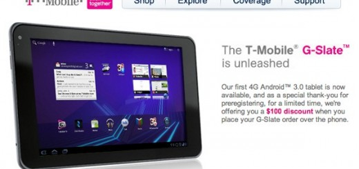 Get T-Mobile G-Slate with $100 discount for early telephone orders