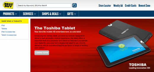 Toshiba Android Honeycomb Tablet to be available from Best Buy soon