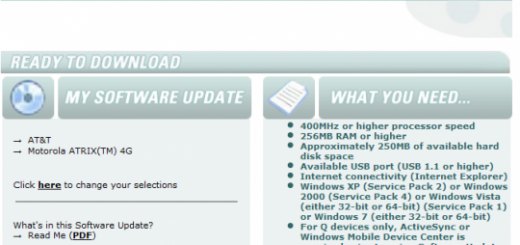 Motorola ATRIX 4G has an unofficial update on the Motorola's Update Page