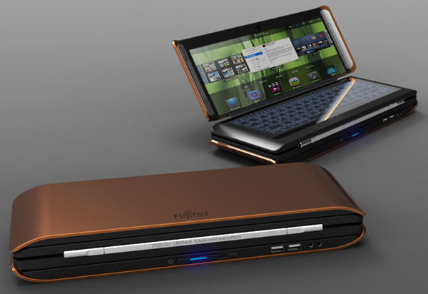 Fujitsu Lifebook X2 Concept is A Folding Laptop