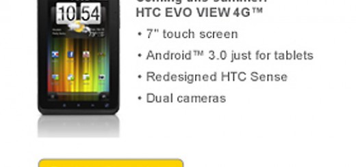 Sprint Evo View 4G Android Tablet to be running on Honeycomb right out of the Box