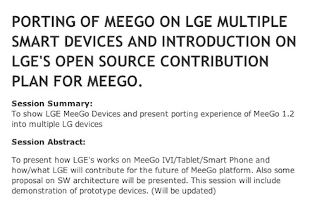 LG's MeeGo based Tablet and Smmartphone Prototypes to be shown up at the MeeGo Conference in May