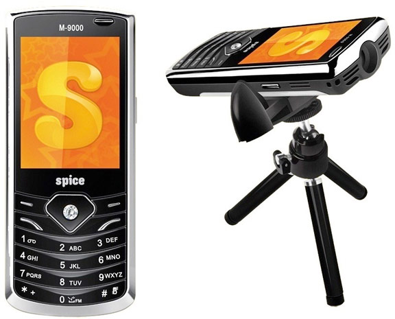 Spice Popkorn Projector M9000 'Projector Phone' Unveiled in India