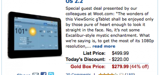 """Amazon offers 10"""" ViewSonic G Tablet for just $220 after a Discount"""
