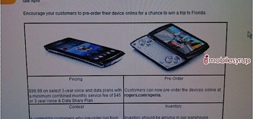 Rogers to offer Sony Ericsson XPERIA Arc and XPERIA Play for a Price of $99.99; releasing late April