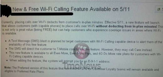 T-Mobile to begin Free WiFi calling Feature on May 11