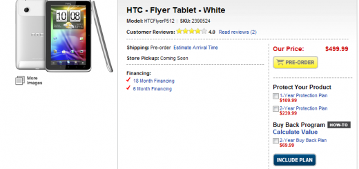 HTC Flyer WiFi-only Tablet is Now available for Pre-order from Best Buy; Shipping Date between May 22-May 27
