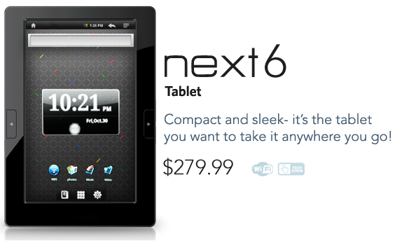 E FUN Nextbook Next6 Android Tablet released; now shipping for $280