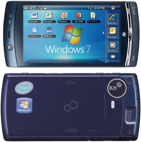 Fujitsu LOOX F-07C dual boot(Windows 7 and Symbian) Atom powered PC phone Officially Annouced; specs revealed