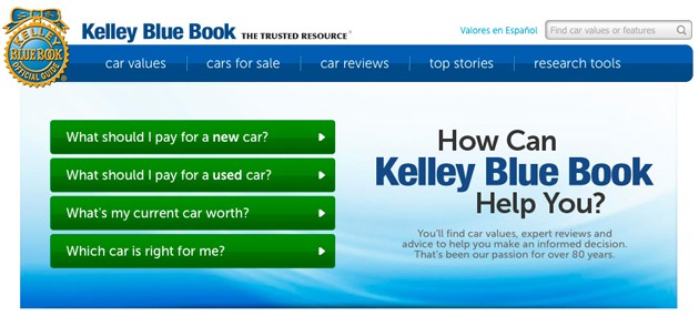 Kelley Blue Book introduces new design look