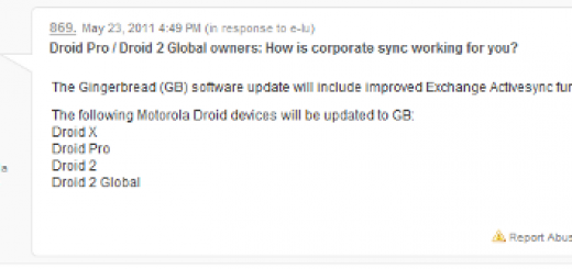 Motorola Droid X, Droid Pro and Droid 2 Global Smartphones to taste Android 2.3 Gingerbread Update?