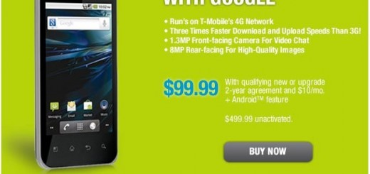 RadioShack offers T-Mobile LG G2x Smartphone for Price of $99.99 online