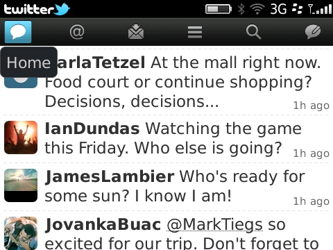 Twitter for BlackBerry version 2 beta