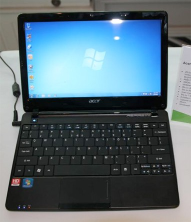 Acer Aspire One 722 Netbook appeared on Hands-on Video