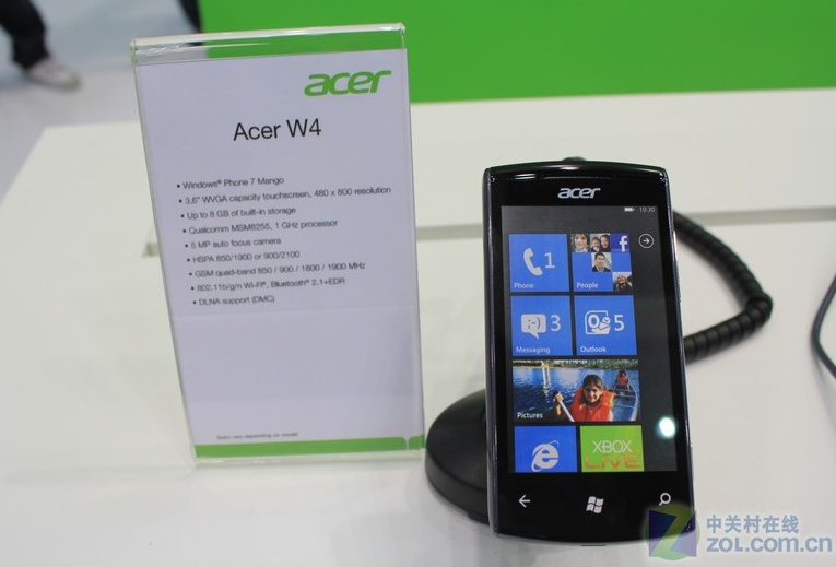 Acer W4 Windows Phone Mango Smartphone with Specs revealed at Computex
