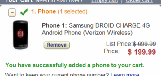 Verizon Samsung Droid Charge 4G Smartphone now for $199.99 at Amazon