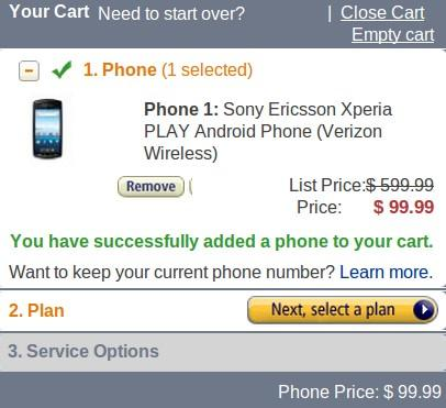Sony Ericsson XPERIA Play Smartphone on Pre-order for just $99.99 at Amazon