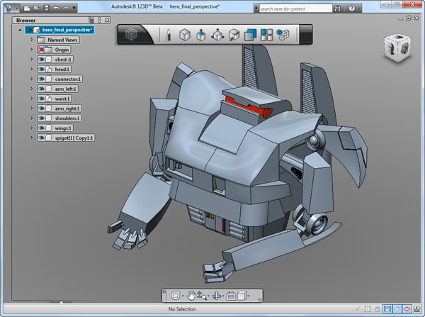 Autodesk 123D Beta free download releases with advanced CAD Features - Review