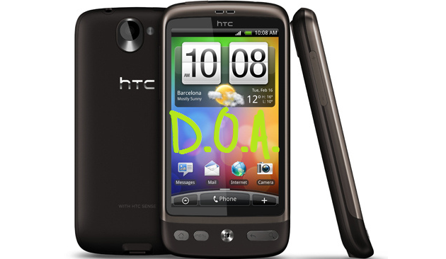 HTC Desire Gingerbread Update release cancelled