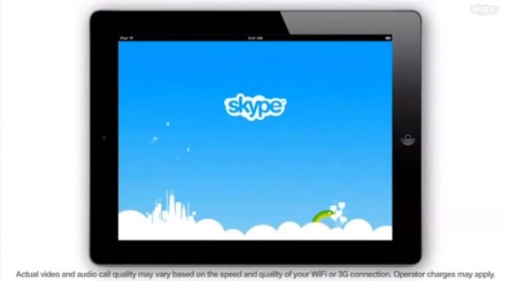 Skype for Apple iPad 2 surfaced on Promo Video; releasing soon?