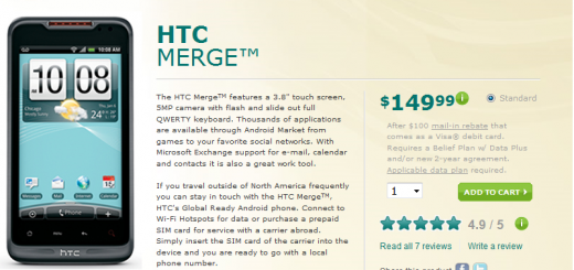 US Cellular releases HTC Merge Smartphone for Price of $149.99; LG Genesis release Date and Price revealed
