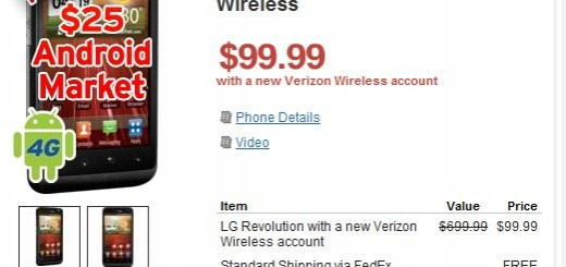 Verizon LG Revolution 4G gets Price Cut; Wirefly offer it for jut $99.99