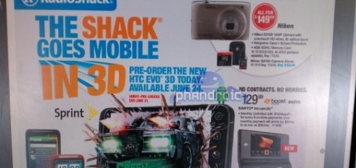 RadioShack to release Sprint HTC Evo 3D on June 24th?
